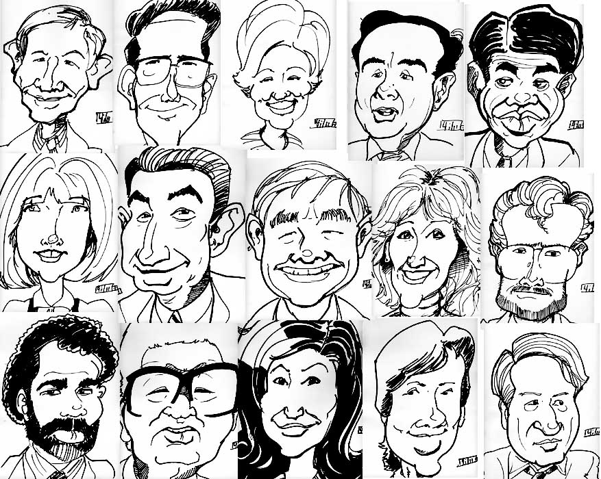 quick marker caricatures